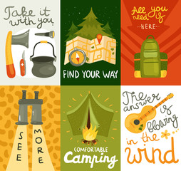 Camping Equipment Cards