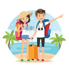 Travel on the beach