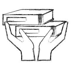 hands with text book school