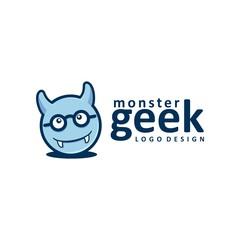 Monster Geek Logo Design, Monster Design Logo Vector
