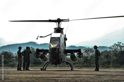 Military helicopter, March 24, 2018, Amphoe Lom Sak