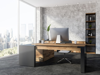 Concerete loft office workplace corner