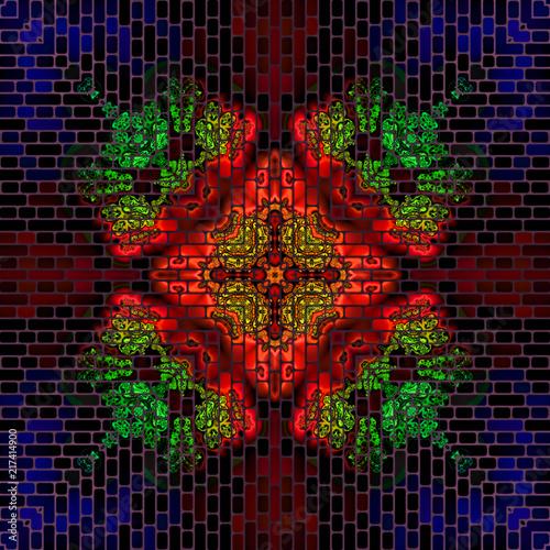 abstrakt fraktal bunt mosaik muster - Mosaik Muster