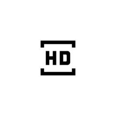 HD icon vector symbol sign