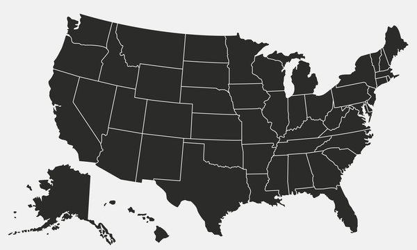 United States of America map. USA background. Vector illustration