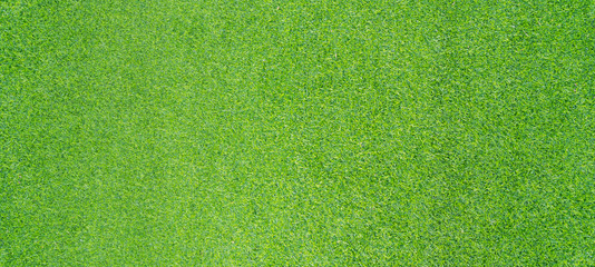 Top view photo, Artificial green grass texture background