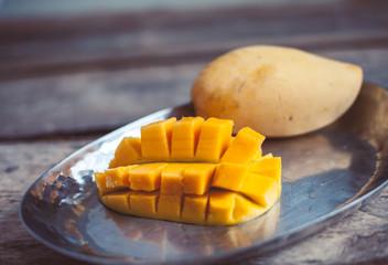 Mango in a plate