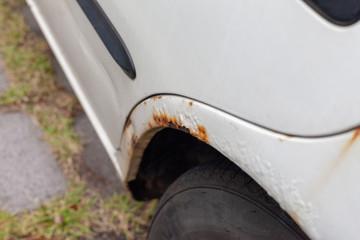 Rusty car paint surface