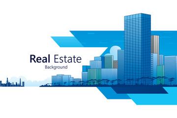Real Estate background. Vector illustration