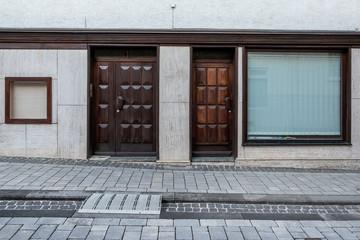 alte Holztür Wohnung Eingang