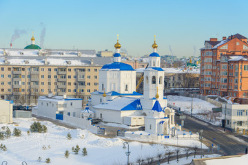 Kazan, Russia - 23.02.2016: Church in Kazan, winter