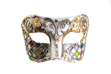 mask for carnival is on a white background