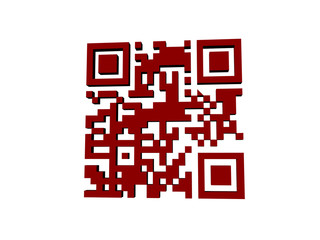 Roter QR Code