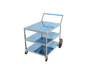 Servierwagen mit Glasböden