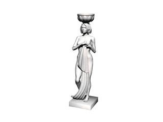 Steinerne Frauenfigur
