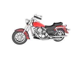 Rotes Motorrad