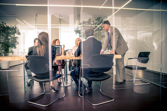Businesspeople in a office