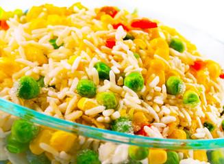 vegetable blend in glassware