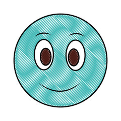 big smiley emoticon happy face drawing color image