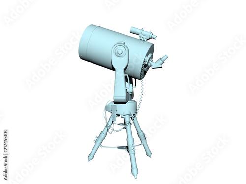 Astronomisches teleskop zeigte auf den sternenhimmel in der nacht
