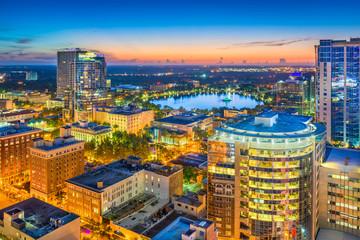 Orlando, Florida, USA Skyline at Dusk.