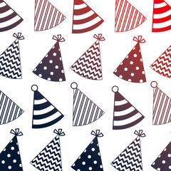 party hats decorative pattern
