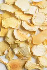 Mango or melon dehydrated chips