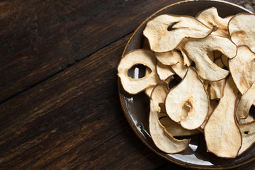 Pear dehydrated chips