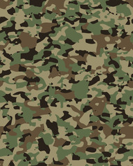 Camouflage pattern background seamless vector illustration. Military fashionable abstract geometric texture.