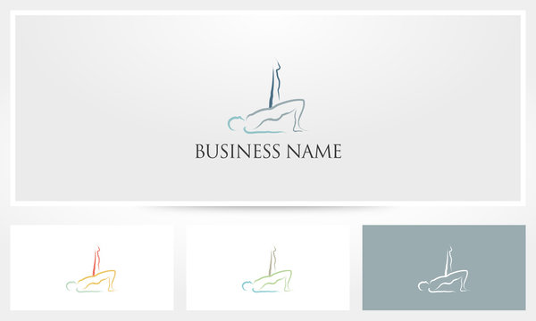 Yoga Pilates Bridge Pose Logo
