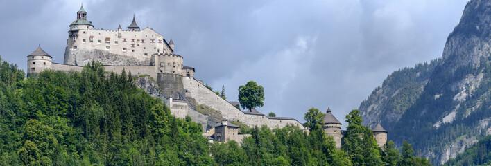 Hohenwerfen castle and fortress at Werfen on Austria