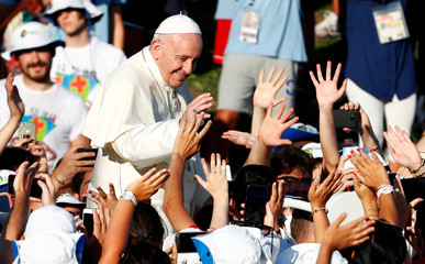 Pope Francis meets Italian youth at Circo Massimo in Rome