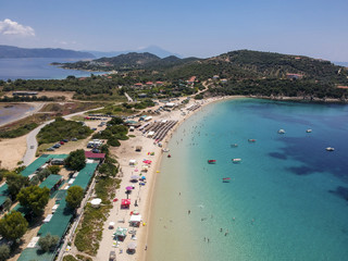Beach at Ammouliani island at Chalkidiki, Greece