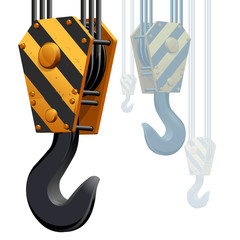 Building construction crane hook
