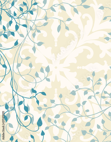 Ivy Background Design With Vines And Leaves On Fancy White Wallpaper Elegant Wedding Announcement