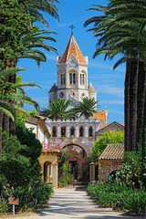 Lerins Abbey (Abbaye de Lrins) on the island of Saint-Honorat, one of the Lrins Islands, on the French Riviera