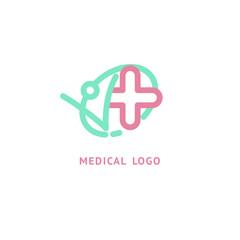 Vector stock logo, abstract medical vector template