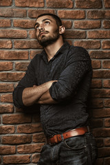 pensive male model