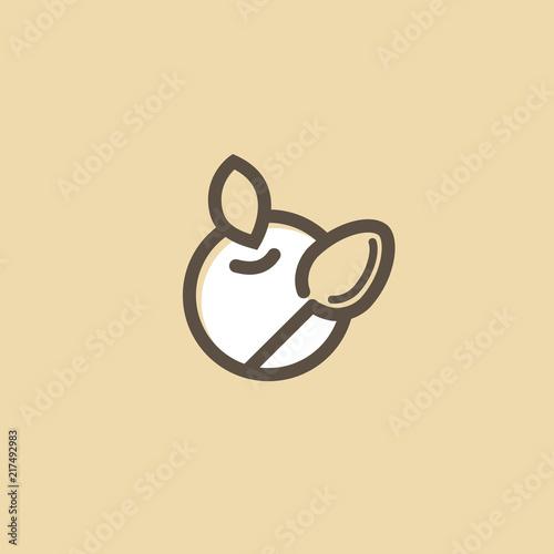 Abstract food logo icon vector design  Recipe, cooking, course, cafe