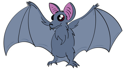 Cute Cartoon Bat
