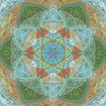 Lotus mandala with Paisley