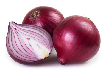 Fresh onion on white background Wall mural