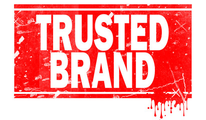 Trusted brand  in red frame