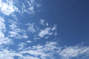 Blue sky, clouds. Cloudscape.