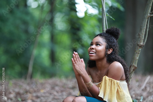 excited praying black woman stock photo and royalty free images on