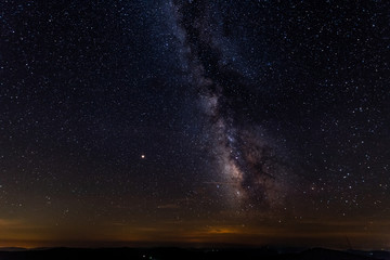 A clear view of the Milky Way from the dark skies of Spruce Knob in West Virginia