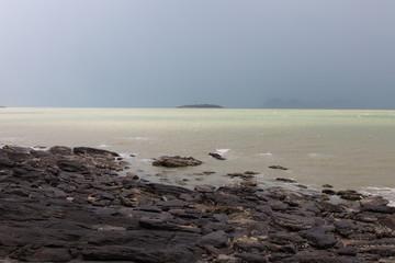 Seascape after the rain.