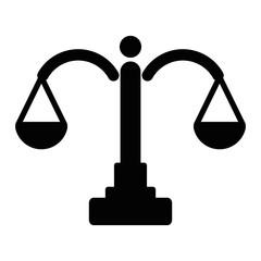 Justice scale logo. Law icon. Attorney symbol. Vector eps 08.