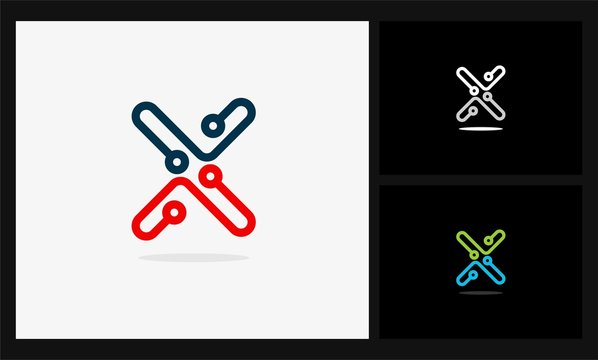 letter x link tech logo
