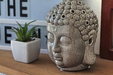 Buddha head lantern